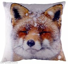 "17"" Portrait FOX in Snow Cushion - Evans Lichfield DP508 - New for XMAS"