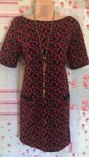 Wallis Red and Black Tunic Shift Dress Size 16 M