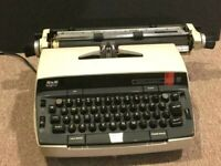 Vintage SCM Smith-Corona 250 Electric Typewriter w/dust cover. Clean