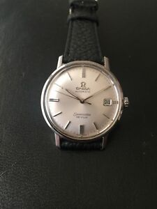 OMEGA SEAMASTER DEVILLE AUTOMATIC DATE STAINLESS STEEL WATCH *MINT CONDITION*