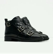ZARA  PADDED  LEATHER  ANKLE  BOOTS .  SIZE  UK  7  /  EUR  40  /  USA  9