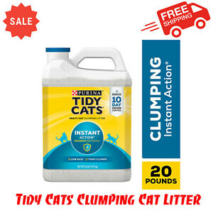Purina Tidy Cats Clumping Cat Litter, Instant Action Multi Cat Litter, 20 lb Jug