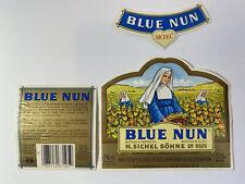 Original Vintage Blue Nun White Wine Iron On Transfer German Alcohol