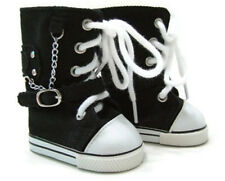 """Black High Top Sneaker Shoes made for 18"""" American Girl Doll Clothes"""