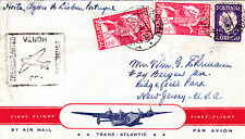 HORTA FIRST FLIGHT  COVER HORTA - LISBOA - U.S.A