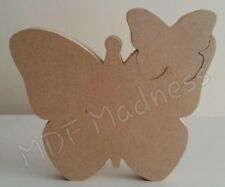 MDF CRAFT SHAPE. WOODEN BUTTERFLY WITH SMALLER BUTTERFLY INSERT