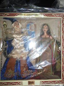 Merlin and Morgan LeFay Barbie Doll Giftset NRFB MIB