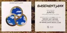 BASEMENT JAXX Junto 2014 Ltd Ed Album Art Sticker +FREE Electronica/Pop Stickers