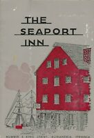 Vintage THE SEAPORT INN Restaurant Menu Alexandria Virginia 1965