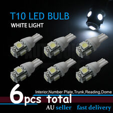 6x White W5W T10 5LED Car Interior Wedge Side Tail Parker Plate Light Globe Bulb