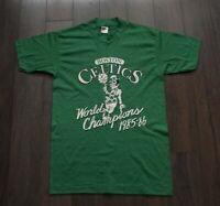 Celtics Boston T Shirt World Champion 1985-86 80s Vtg Vintage Size M *F0611a5