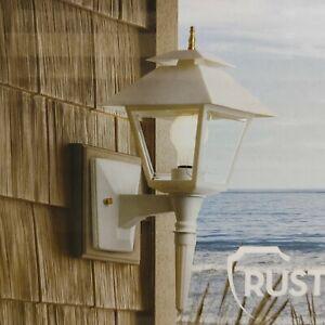 Portfolio White Finish Outdoor Wall Lantern. Rust Resistant. New/ Ships Free.