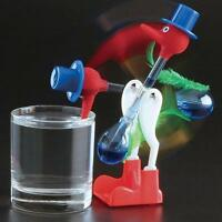 Novelty Retro Glass Happy Drinking Bird Bobbing Dipping Dippy Einstein Duck To っ