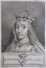 Gravure Antique print Marguerite Comtesse de Hollande Flipart Count of Holland
