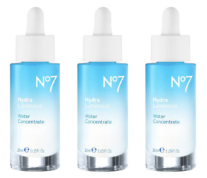 Lot of 3 No7 Hydra Luminous Water Concentrate, 1 fl. oz. Each