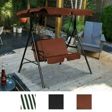 Loveseat Cushioned Patio Porch Swing Glider Steel Frame with Uv Resistant Canopy