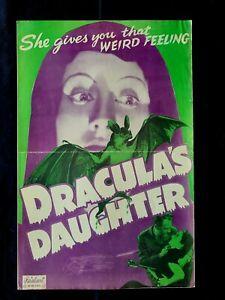 Draculas Daughter R49 pressbook  Horror