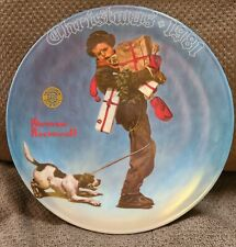 """1981 Knowles Norman Rockwell """"Wrapped Up In Christmas """" Collectible Plate"""