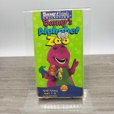 Barney - Barneys Alphabet Zoo (VHS, 1994) Tested Working White Tape