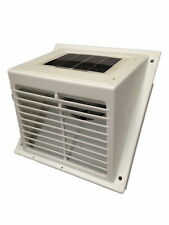 Solar POWERED wall Fan exhaust Vent Greenhouse,pet hutch,dog kennel w/o battery