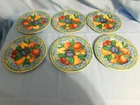 E2 -  Victoria Beale Forbidden Fruit Salad Plates Lot of 6