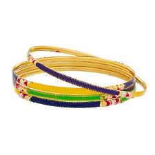 Traditional Colorful Gold Plated Bangles BG-1970_2.4