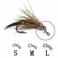 50100pc Fliegenfischen Snap Quick Change für Haken Hot Fishing Lockt Outdoo E2Q8