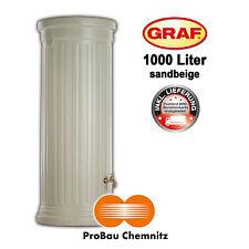 Graf Säulentank 1000 Liter sandbeige, inkl. Lieferung, Regenwasser, Garten, NEU