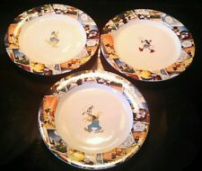 "Set of 3 Disney China Comic Plates 9 1/8"" Donald, Goofy & Minnie"