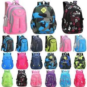 Boys Girls Kids Child Waterproof School Bag Travel Rucksack Backpack Bookbags AU