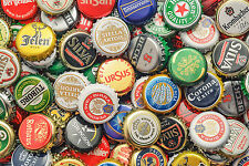 STUNNING CANVAS CLASSIC BEER BOTTLE TOPS #850 WALL HANGING PICTURE ART A1