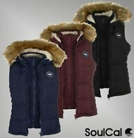 Ladies SoulCal Soft Fleece Padded Sleeveless 2 Zip Gilet Sizes from 8 to 20
