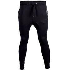 Soulstar Ribbed Pu Back Pocket Jogging Bottoms Mens Size
