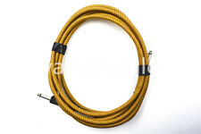10ft Electric Guitar Cable Amp Lead Cord Amplifier Cable Yellow Low Noise Cable