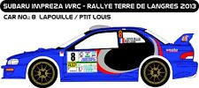 DECALS 1/43 SUBARU IMPREZA WRC #8-LAPOUILLE-TERRE DE LANGRES 2013 MF-ZONE D43216