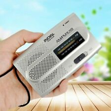 Portable AM/FM Receiver World Universal Built in Speaker Pocket Radio