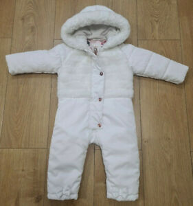 12-18 Months Girls Ted Baker Snowsuit white (25)