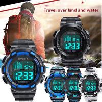 Hot Sale Men Boy Watch Digital LED Analog Quartz Alarm Date Sports Wrist Watch