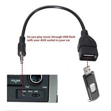 3.5mm Macho Auxiliar de audio jack a USB 2.0 Type Female OTG Adaptador