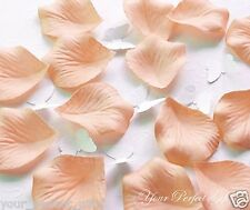 1000 PEACH SILK ROSE PETALS WEDDING FLOWER FAVOR DECOR