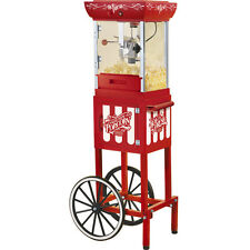 Popcorn Machine w/ Vintage-Style Cart Stand ~ Old Fashioned Style Popper CCP399