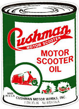 CUSHMAN MOTOR SCOOTER OIL VINYL STICKER (A1122) 12 INCH