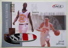 2002 SAGE JARED JEFFRIES KWAME BROWN Dual Patch RC Rare SP #/10