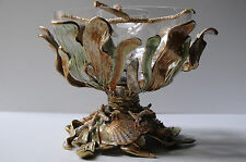 NEW JAY STRONGWATER GROTTO CORAL REEF CAVIAR SERVER W SPOON MARINE VASE