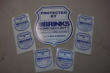 BRINKS yard sign 12 STICKERS