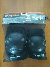 Mongoose BMX Knee & Elbow Pads High Impact Gray Shell Adjustable Fit