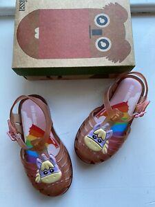 Mini Melissa Girls Pink Unicorn Sandals Size 9 New