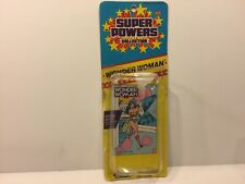 1986 Kenner Super Powers Collection WONDER WOMAN Canada Small Card Only