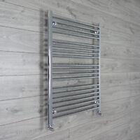 Chrome Towel Rail Rad Central Heating Bathroom Radiator 750mm Wide 1000mm High *