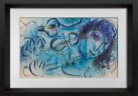 Marc CHAGALL LITHOGRAPH Limited Edition ORIGINAL + Dbl '57 w/Archival FRAMING